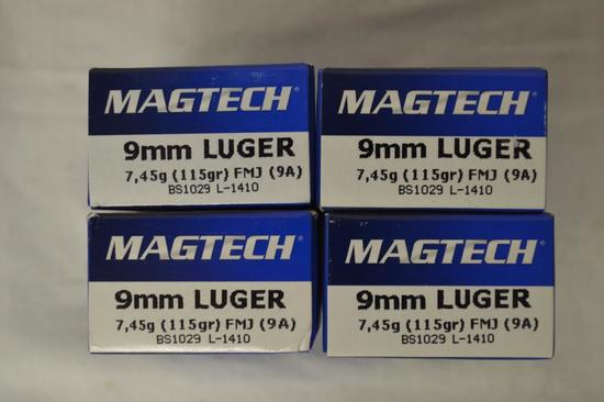 Ammo. 9mm, 115 GR. 200 Rounds