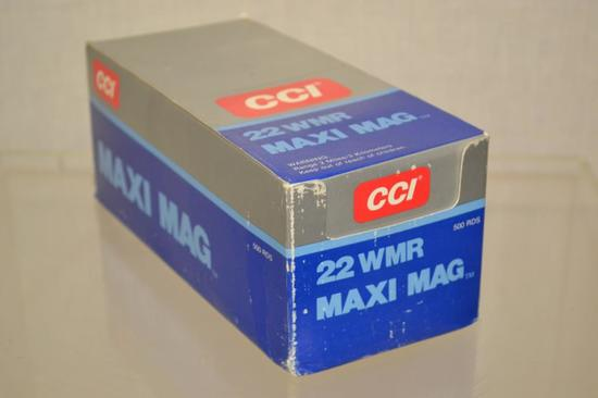 Ammo. CCI 22 WRM Maxi Mag. 500 Rounds