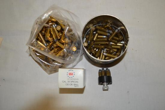 Ammo. 38 Special. 130 & 158 Gr. Approx. 250 Rounds