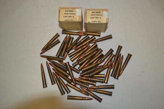 Ammo. 303 British. Approx 90 rounds