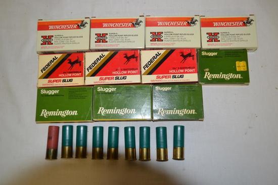 Ammo. 49 12 ga Slugs & 15 20 ga Slugs