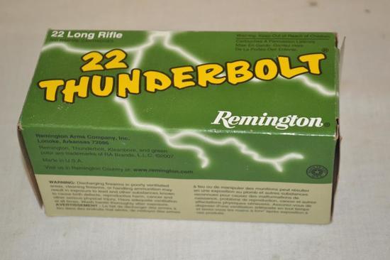 Ammo. Remington Thunderbolt 22 lr. 500 Rds