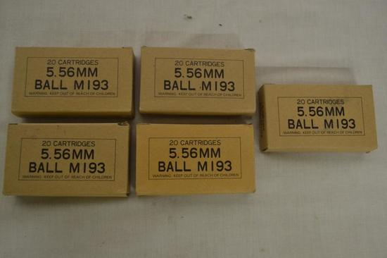 Ammo. PMC 5.56 mm Ball M193. 100 Rds