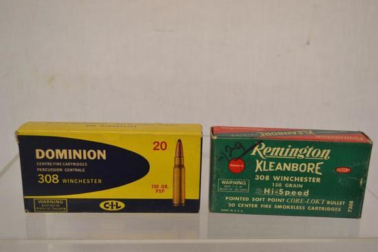 Ammo. Dominion & Remington 308, Collectible