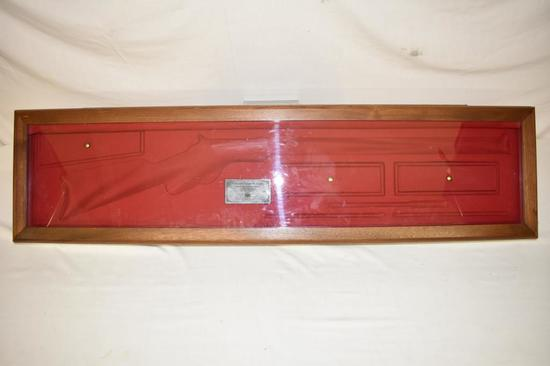Walnut Gun Case for Henry Commemorative Rifle