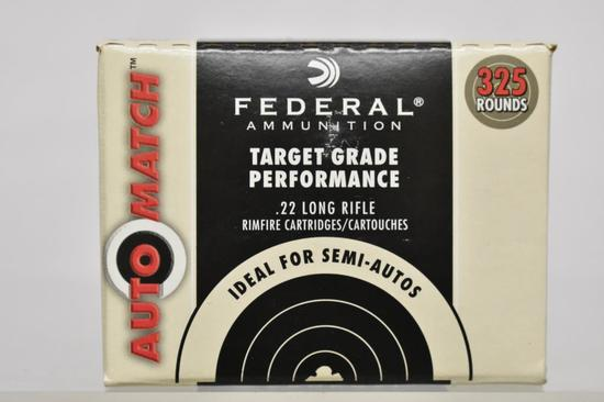 Ammo. Federal, 22 Long Rifle 325 Rds