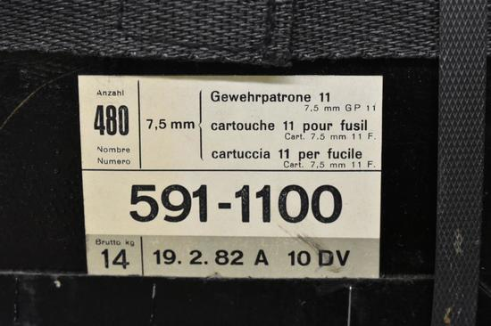 Ammo. Gewehrpatrone 7.5 mm. 460 Rds