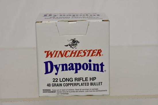 Ammo. Winchester Dynapoint 22 lr rf, 40 GR, 500 Rd