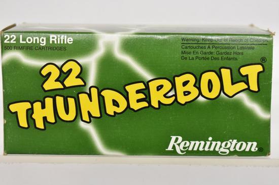 Ammo. Remington 22 Thunderbolt, 22 lr, 500 Rds