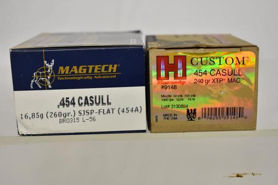 Ammo. Hornady & Magtech 454 Casull. 40 Rds