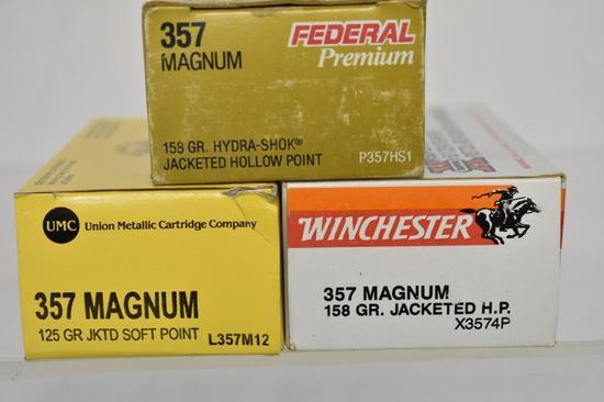 Ammo. Federal, Winchester & Union Metallic 357 mag