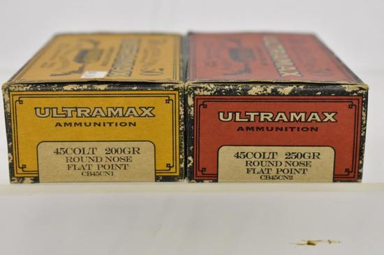 Ammo. Ultramax 45 Colt, 200 gr & 250 gr, 100 Rds.