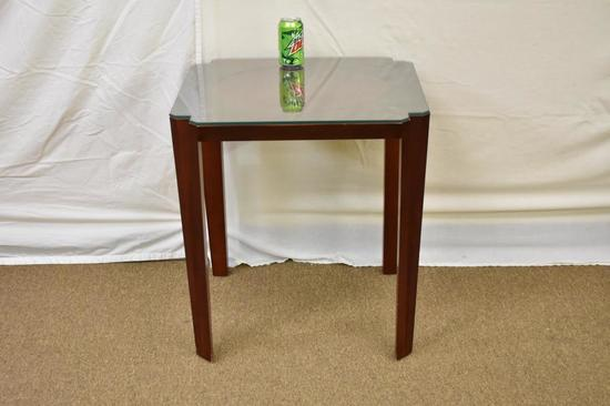 Mid-Century Hardwood End Table