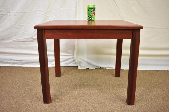 Mid-Century Modern Hardwood End Table