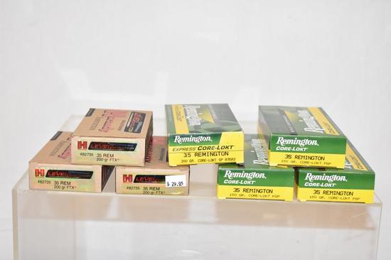 Ammo. Remington & Hornady 35 Rem. 140 Rds.