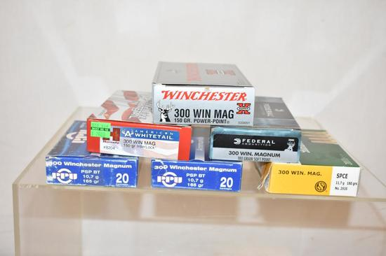 Ammo. 300 Win Mag. 6 Boxes, 120 Rds.
