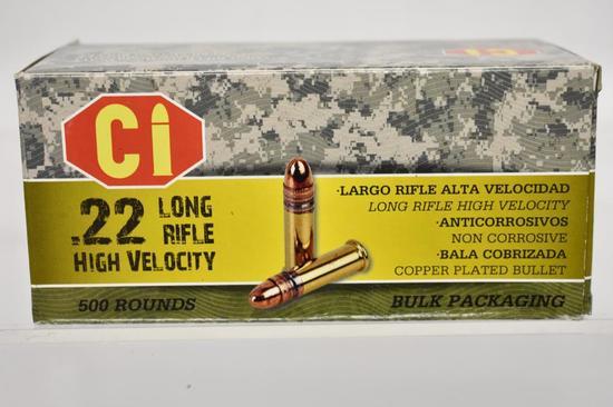 Ammo. CI 22 LR High Velocity. 1 Brick, 500 rds.