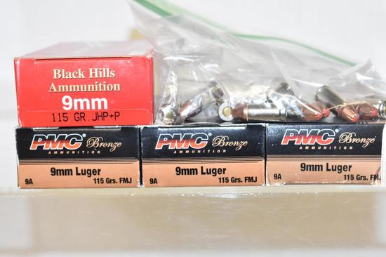 Ammo. 9mm Luger, 215 Rds