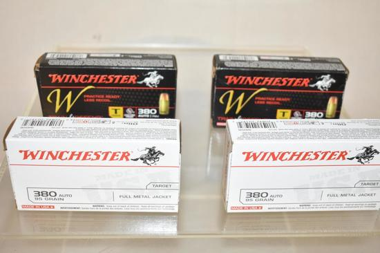Ammo. Winchester 380 FMJ 95 Gr, 200 Rds