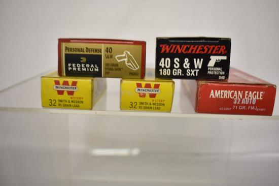 Ammo. 40 S&W 40 Rds, 32 Auto 100+ Rds.
