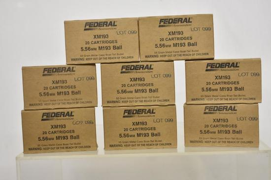 Ammo. Federal M193 Ball 5.56 50 Gr. 160 Rds.