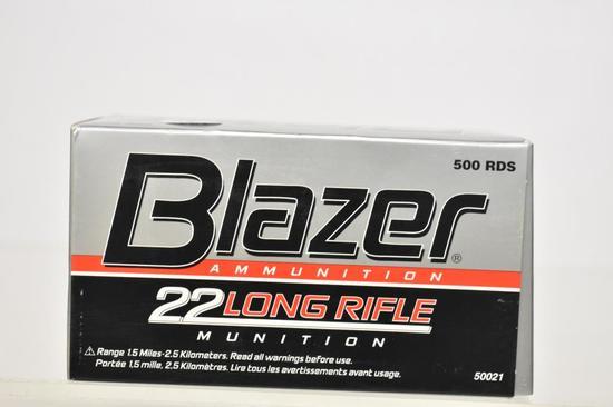 Ammo. Blazer 22 LC. Brick, 500 Rds
