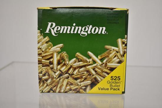 Ammo. Remington Golden Bullet, 22 lr 525 Rds.