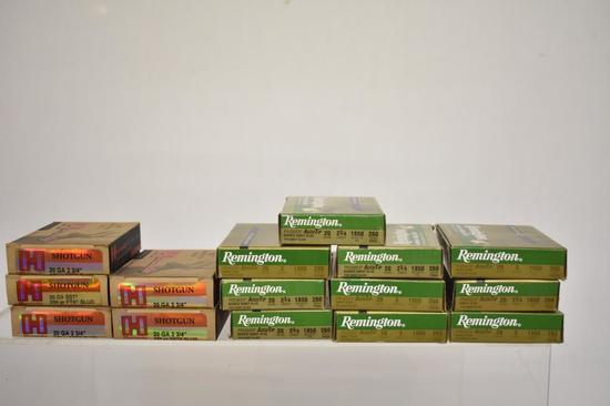Ammo. Hornady & Remington 20 ga Slugs, 125 Rds.