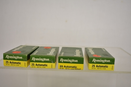 Ammo. Remington 25 Auto. 200 Rds.