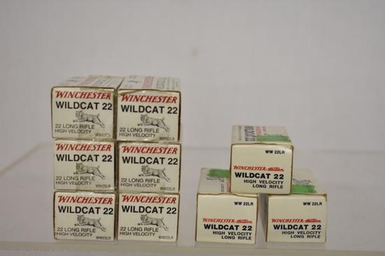 Ammo. Winchester wildcat 22 LR. 450 Rds