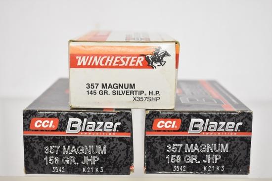 Ammo. Winchester & CCI Blazer 357 Mag. 150 Rds