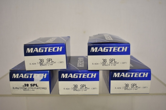 Ammo. Mgtech 38 Special. 250 Rds
