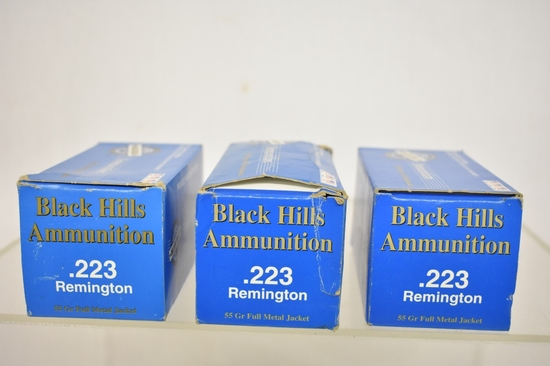 Ammo. Black Hills 223 Remington. 150 Rds.