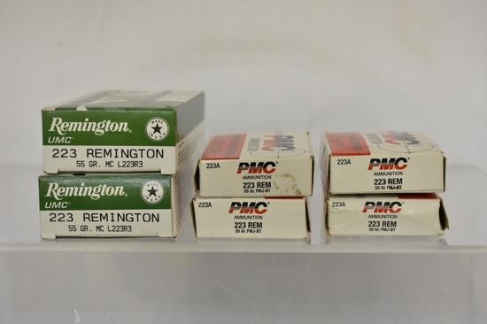 Ammo. Remington & PMC 223. 120 Rds.