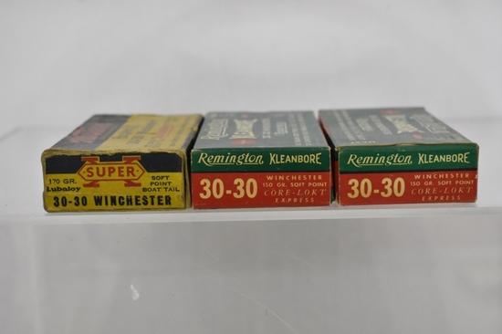 Ammo. Remington & Western 30-30. 45+ Rds.