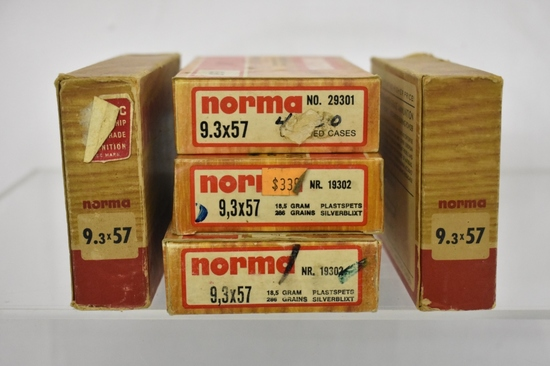 Ammo. Norma 9.3x57. 72 Live Rds, 20 Brass