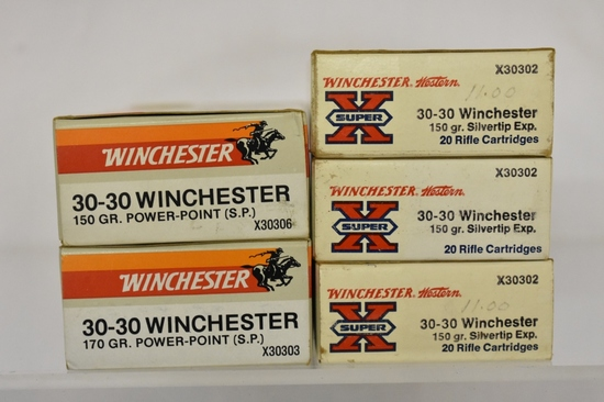 Ammo. Winchester 30-30. 75 Rds.