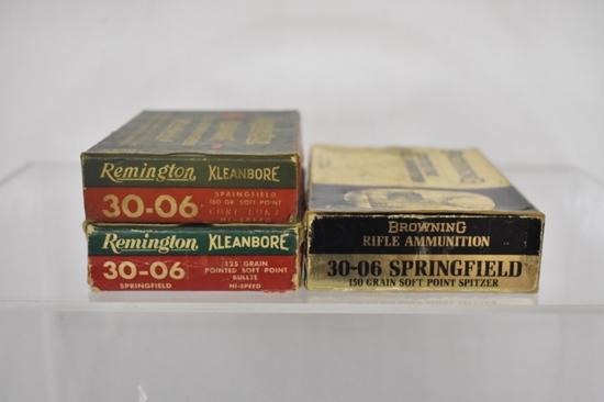 Ammo. Remington & Browning 30-06. 50+ Rds, 5+ Bras