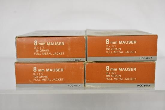 Ammo. Hansen 8mm. 40+ Live Rds, 34 Brass