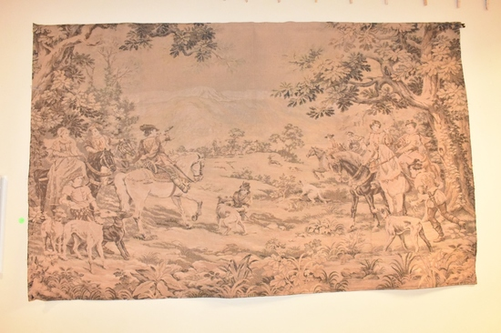 French After C. Detti Verdure Tapestry