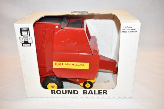 ERTL Ford New Holland Round Baler 1/16 Scale Toy