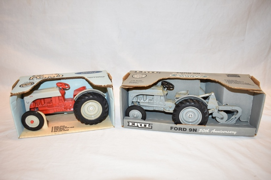 Two ERTL Ford 8N & 9N Tractor 1/16 Scale Toys