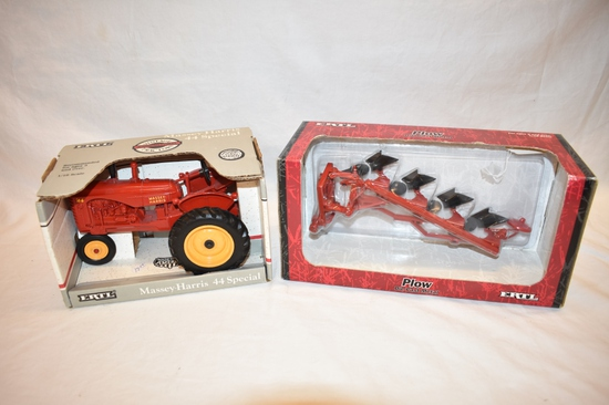 Two ERTL Tractor & Plow 1/16 Scale Toys