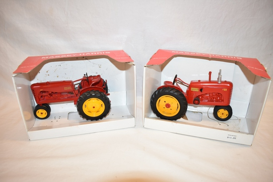 Two SpecCast Massey Harris Tractor 1/16 Scale Toys