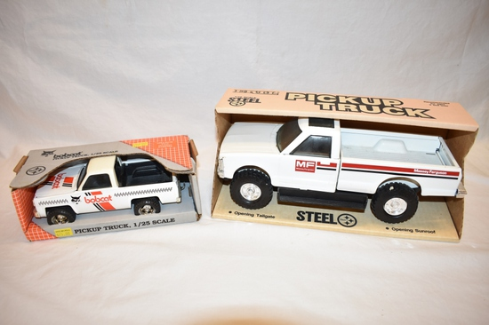 Two ERTL Pickup Truck 1/25 & 1/16 Scale Toys