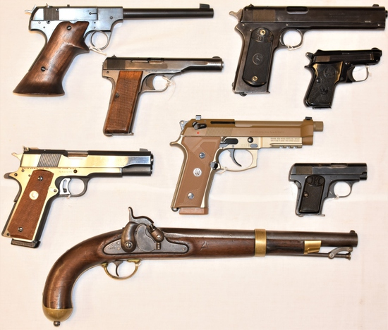 100 Firearms, Military, Ammo, Knives & Related