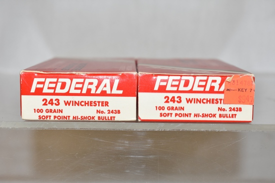 Ammo. 243 Winchester, 40 Rds.
