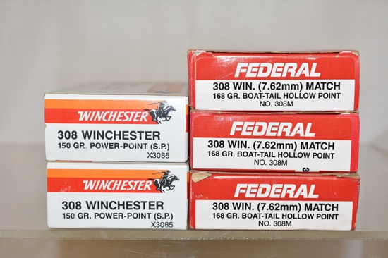 Ammo. 308 Win. 100 Rds.