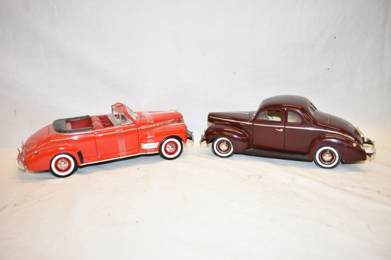 Two 1/18 Scale Classic Car Toys