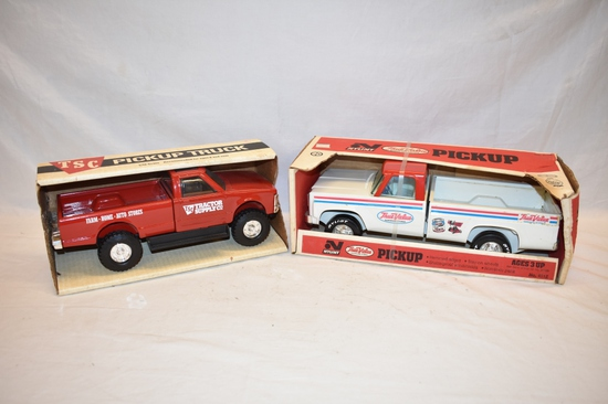 Two 1/16 Scale Pickup Truck Toys